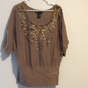 Brown sweater with brown sequins!